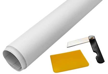 Folia mat white biała 152x50cm + nożyk i rakla