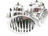 Klakson ślimakowy chrom 12V z przekaźnikiem